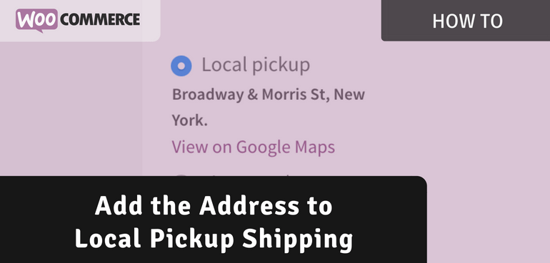Add Address to Local Pickup Shipping