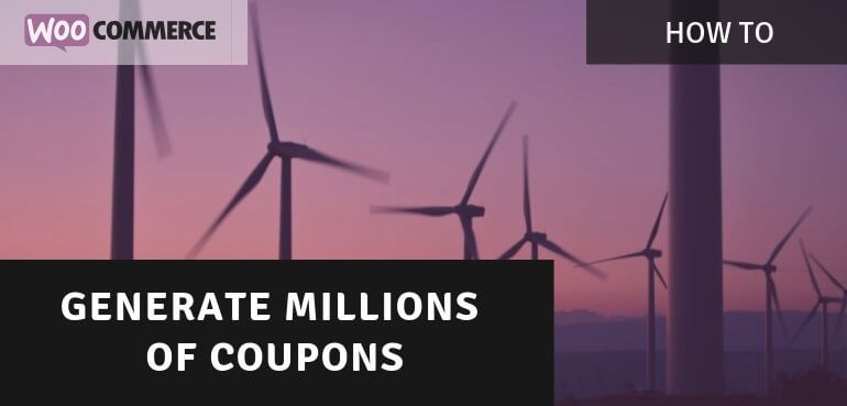 Generating Bulk Generate Coupons in WooCommerce