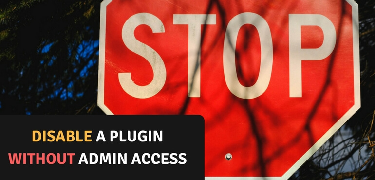 Disable a WordPress Plugin Without Admin Access