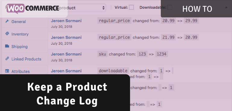 Keeping a Product Change Log