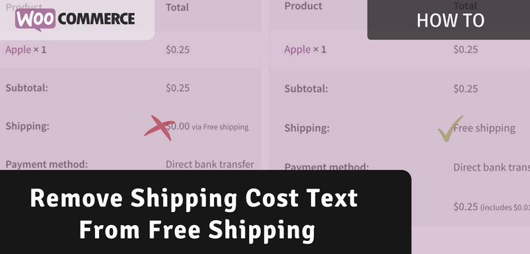 Remove Shipping Cost Text From Free Shipping Options