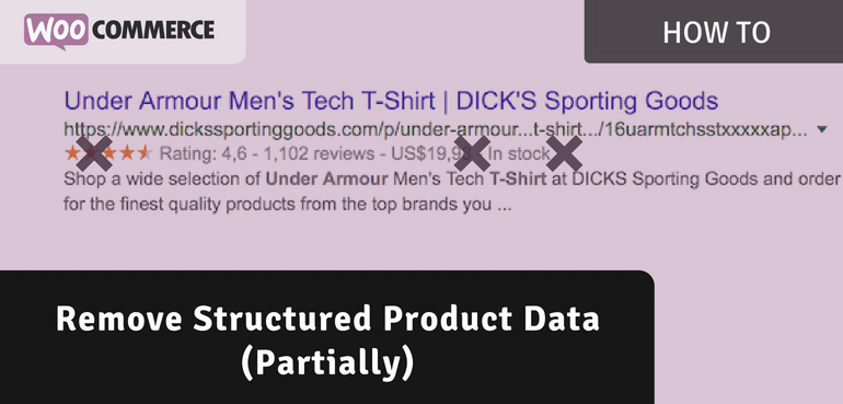 Remove Structured Data (Partially) from WooCommerce