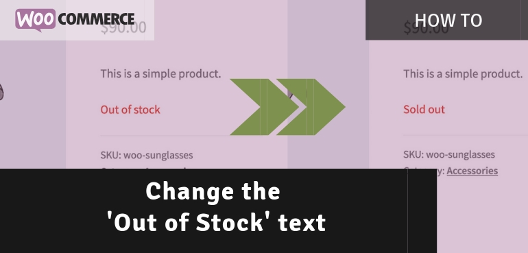 Changing the 'Out of Stock' text